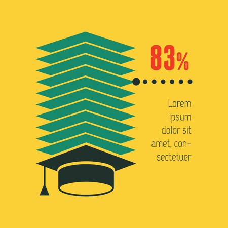 Education Flat Infographic Element Graphics