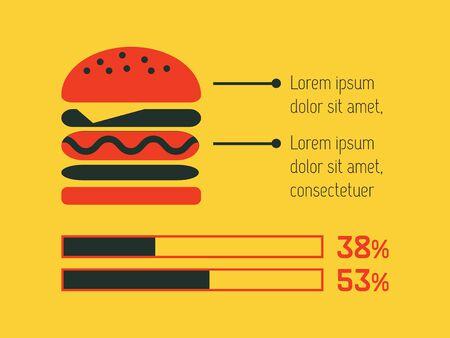 Food Flat Infographic Element Graphics  Illusztráció