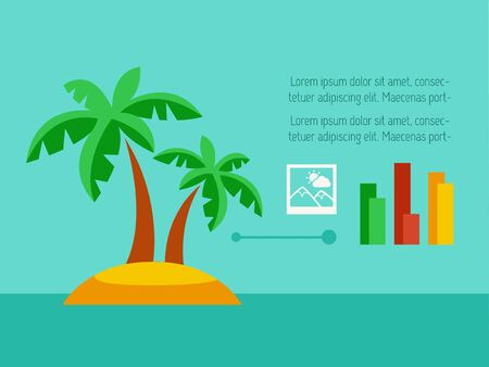 vizualisation: Travel Flat Infographic Element Graphics