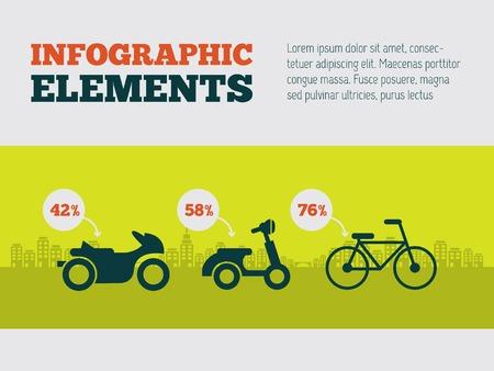 vizualisation: Transportation Flat Infographic Element Graphics  Illustration