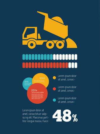 Transportation Flat Infographic Element Graphics  Vector