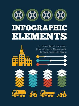 Transportation Flat Infographic Element Graphics  Ilustracja