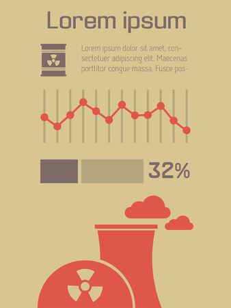 Ecology Flat Infographic Element Graphics  Illusztráció