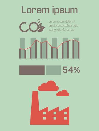 vizualisation: Ecology Flat Infographic Element  Vector Graphics