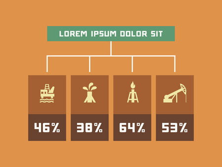 vizualisation: Ecology Flat Infographic Element Graphics  Illustration