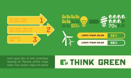 Ecology Flat Infographic Element   Ilustração