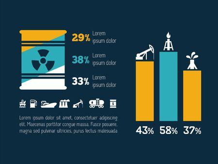 Ecologie Flat Infographic Element Vector Graphics