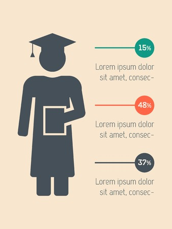 Education Flat Infographic Element Graphics