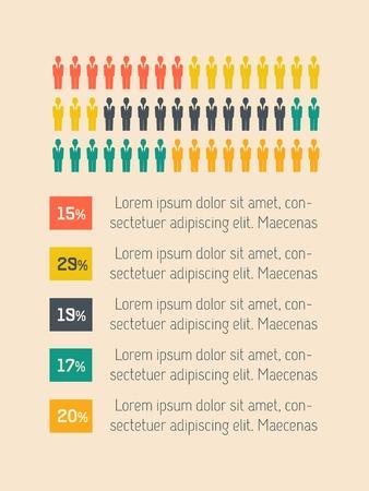 vizualisation: Education Flat Infographic Element  Graphics  Illustration
