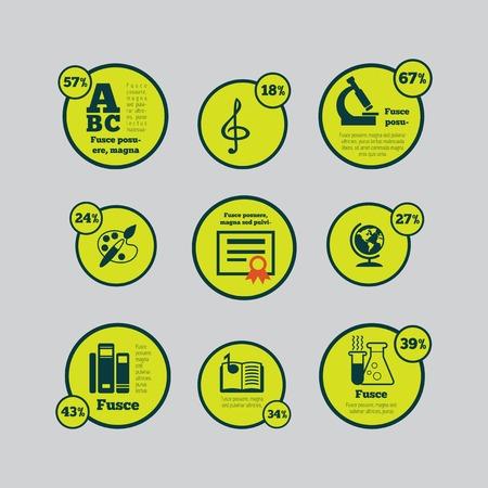vizualisation: Education Flat Infographic Element Graphics