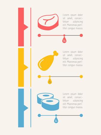 vizualisation: Food Flat Infographic Element Graphics  Illustration