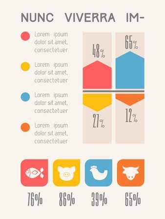 element: Food Flat Infographic Element Graphics  Illustration