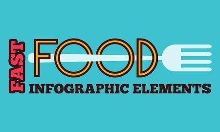 Food Flat Infographic Element  Vector Graphics  Illusztráció