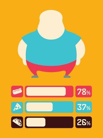 Food Flat Infographic Element Graphics  Vector