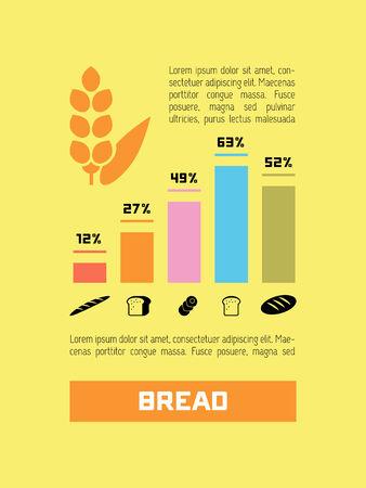 vizualisation: Food Flat Infographic Element  Vector Graphics  Illustration