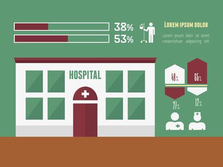vizualisation: Medical Flat Infographic Element Graphics  Illustration