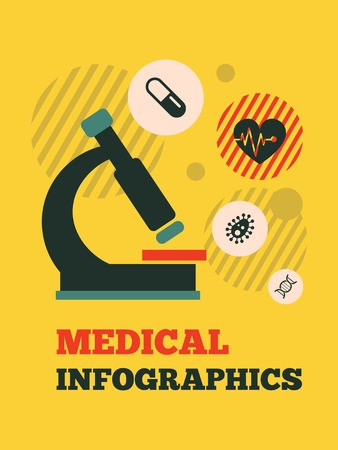 Medical Flat Infographic Element  Vector Graphics Фото со стока - 30067467