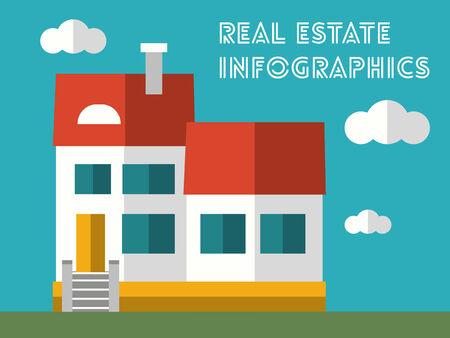 vizualisation: Real Estate Flat Infographic Element Graphics