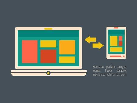 vizualisation: Technology Flat Infographic Element Graphics