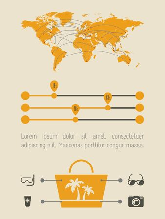 an element: Flat Infographic Element Graphics