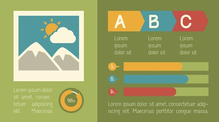 national parks: Travel Flat Infographic Element Graphics