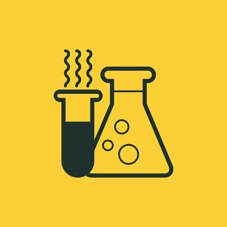 substances: Flat Education Icon  Vector Graphics  Illustration