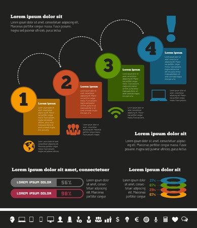IT Industry Infographic Elements Illustration Vector