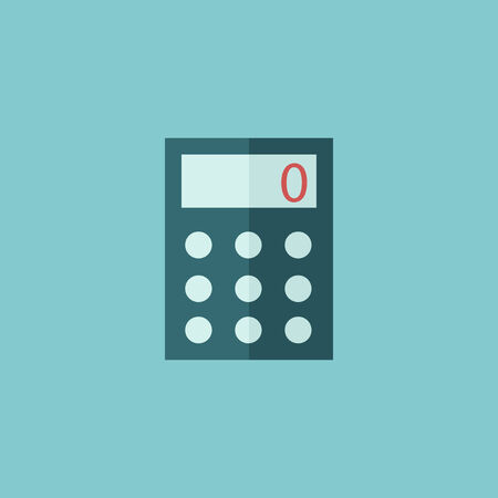 Calculator Flat Icon  Vector Graphics