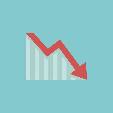 Decrease Flat Icon  Vector Graphics
