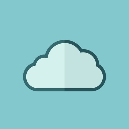 Cloud Flat Icon  Vector Graphics  Çizim