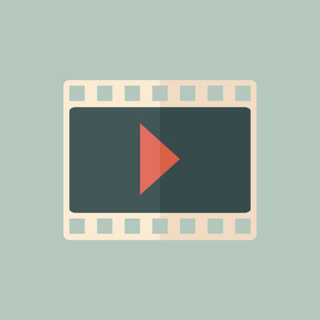 multimedia: Multimedia Icon  Flat Design  Vector