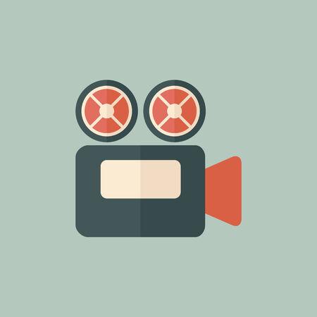 Movie Icon  Flat Design  Vector