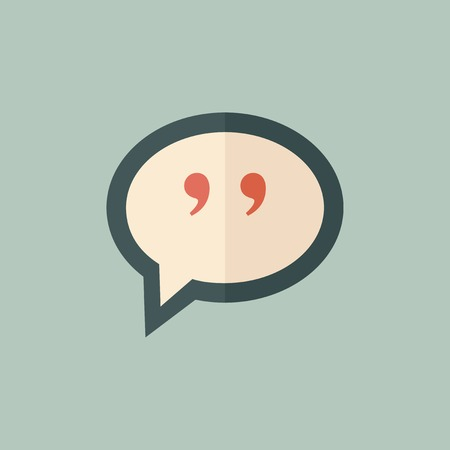 aphorism: Quote Icon  Flat Design  Vector  Illustration