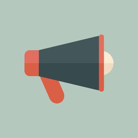 speaking tube: Speaker Icon  Flat Design  Vector