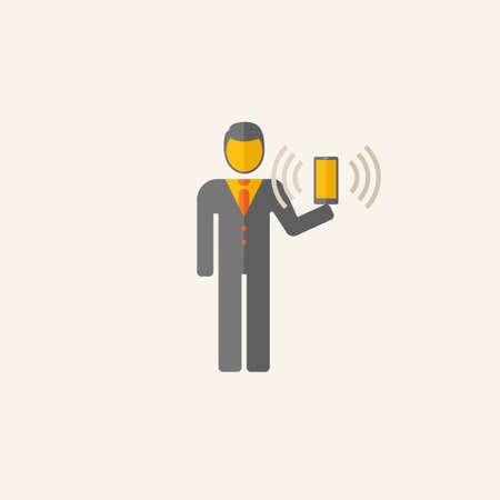 wireless: Business Flat Icon Graphics