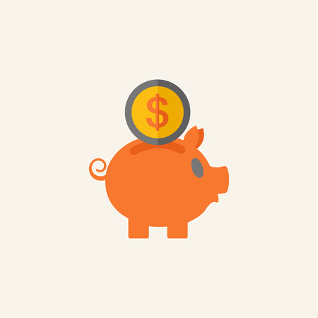 savings account: Business Flat Icon Graphics