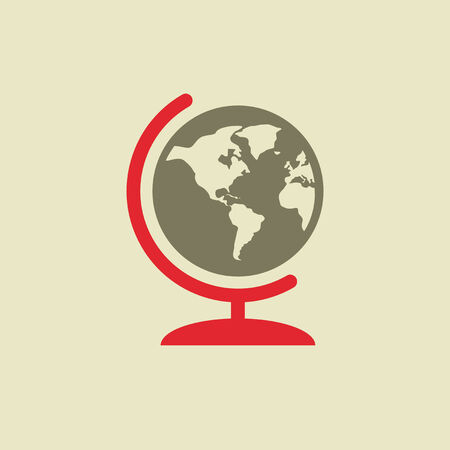 flat earth: Flat Education Icon. Vector Graphics.
