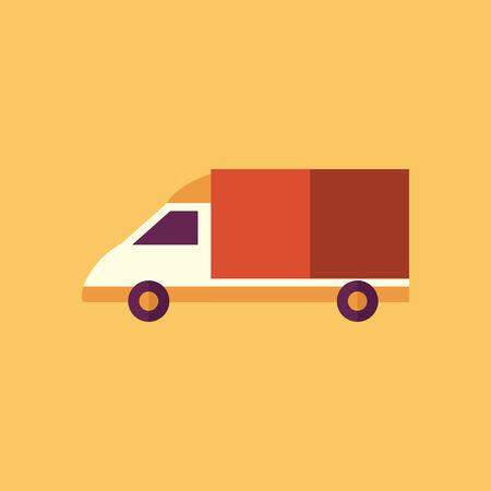 Van. Transportation Flat Icon. Vector Pictogram. EPS 10.