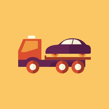Tipper Truck. Transportation Flat Icon. Vector Pictogram. EPS 10. Illustration