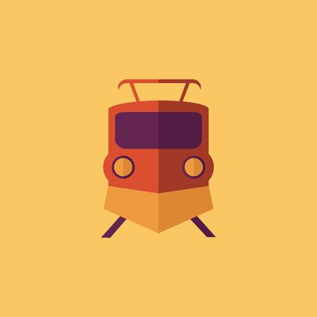 Train. Transportation Flat Icon. Vector Pictogram. EPS 10. Ilustrace