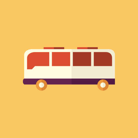 Bus. Transportation Flat Icon. Vector Pictogram. EPS 10.