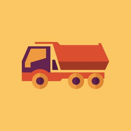 Truck. Transportation Flat Icon. Vector Pictogram. EPS 10. Illustration
