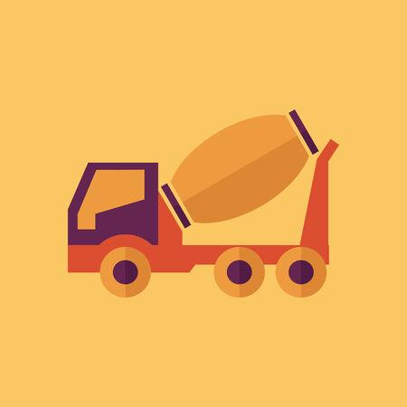 Truck. Transportation Flat Icon. Vector Pictogram. EPS 10. Stock fotó - 31603351