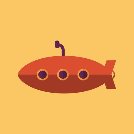 periscope: Submarine. Transportation Flat Icon. Vector Pictogram. EPS 10.