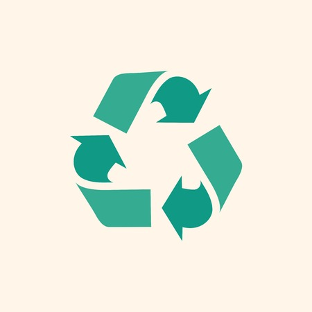 Recycle. Ecology Icon. Flat Design. Vector EPS 10.