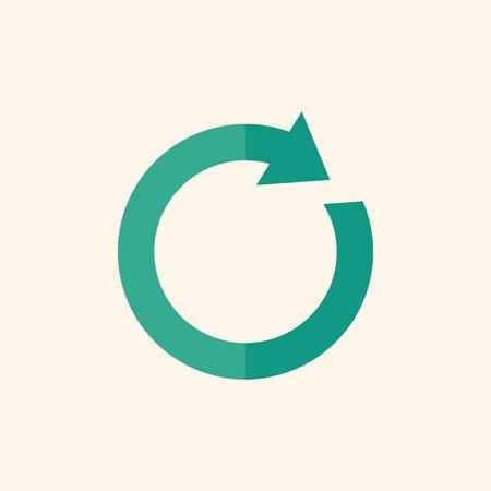 Recycle. Ecology Icon. Flat Design. Vector EPS 10. Reklamní fotografie - 31603412