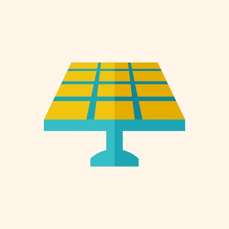 Solar Energy. Ecology Icon. Flat Design. Vector EPS 10.
