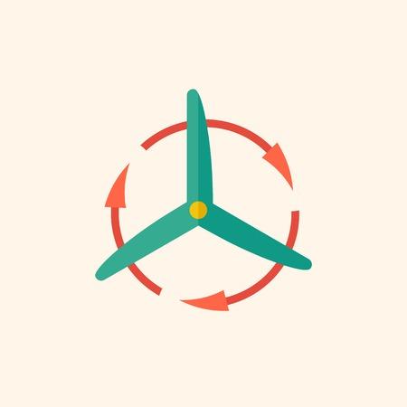 Wind Energy. Ecology Icon. Flat Design. Vector EPS 10. Ilustração