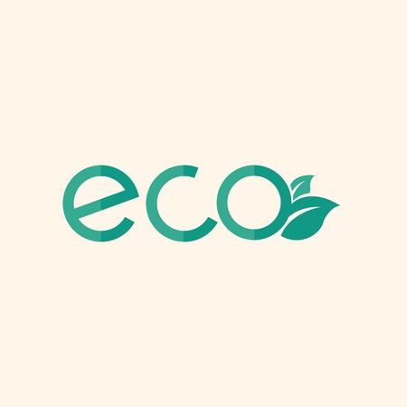 environmental awareness: Eco. Ecology Icon. Flat Design. Vector EPS 10. Illustration