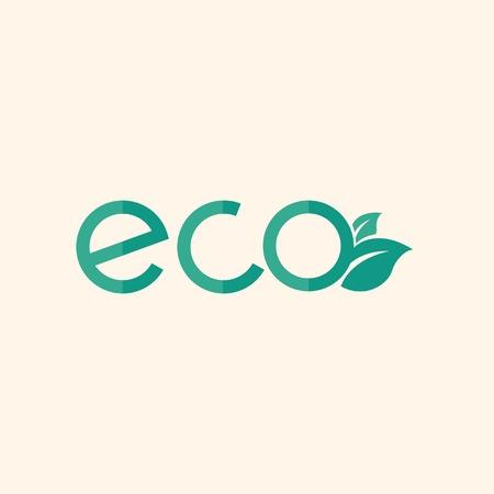 environmental awareness: Eco. Ecology Icon. Flat Design. Vector EPS 10. Illustration